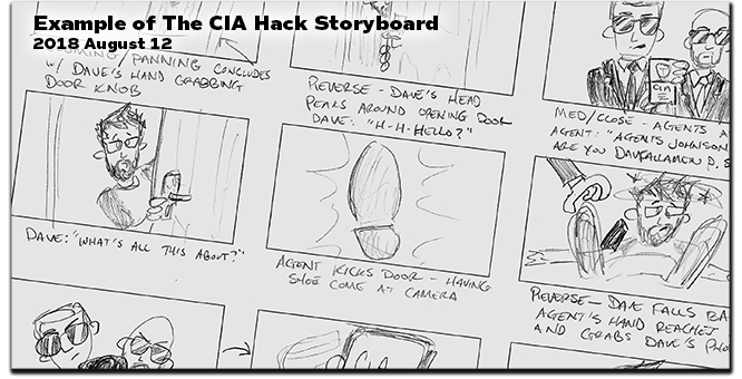Storyboard from The CIA Hack